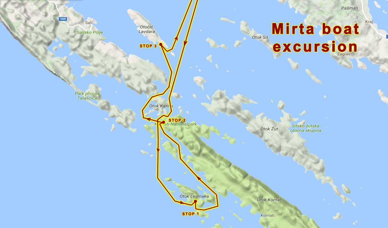 Mirta Tours  Kornati Excursions  Boat trips